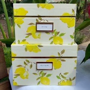 New kate spade Lemon Zest Nesting Box Set